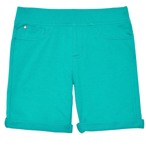 Easy Pull-On Knit Bermuda Shorts - Ceramic