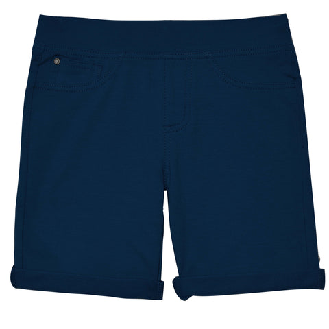 Easy Pull-On Knit Bermuda Shorts - Kidpik Navy