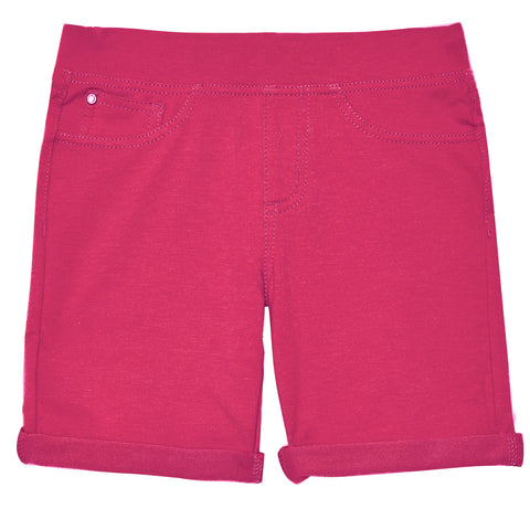 5pocket Knit Bermuda Short - Pink Peacock