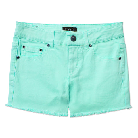 Colored Cut Off Shorts - Jadite