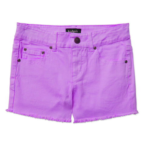 Colored Cut Off Shorts - Violet