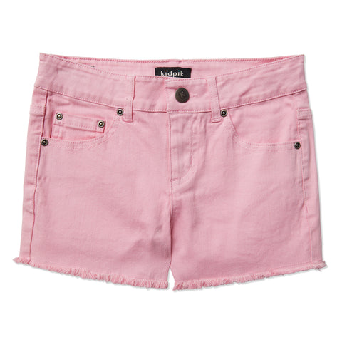 Colored Cut Off Shorts - Prism Pink