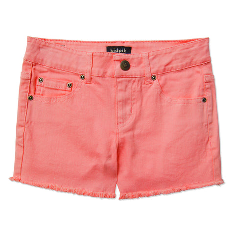 Colored Cut Off Shorts - Calypso Coral