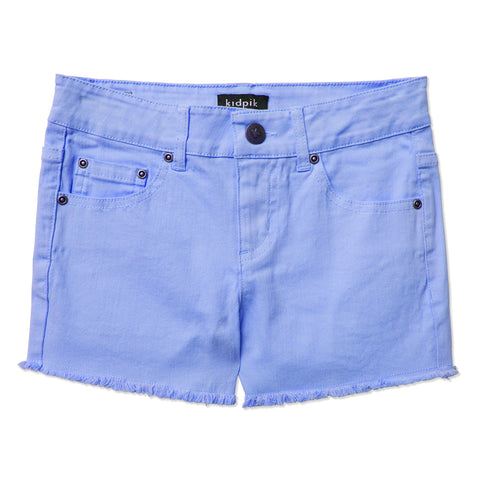 Colored Cut Off Shorts - Azure Blue