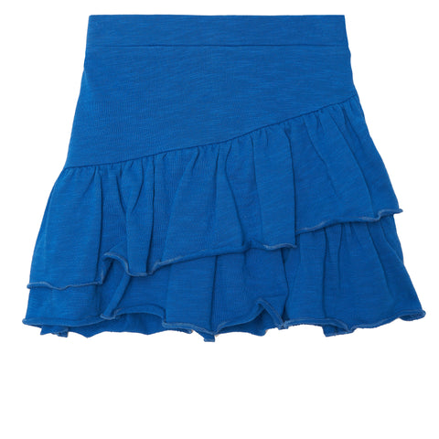 Ruffle French Terry Skirt - Turkish Sea