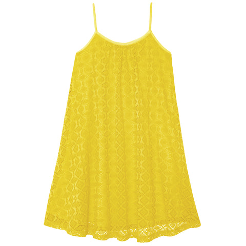 Crochet Swing Dress - Limelight