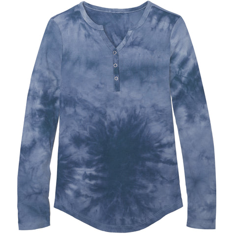 Tie Dye Snap Front Henley - Pacific Coast