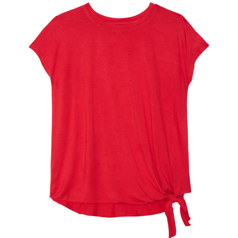 Side Tie Tee - True Red