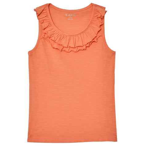 Double Ruffle Tank Top - Desert Flower