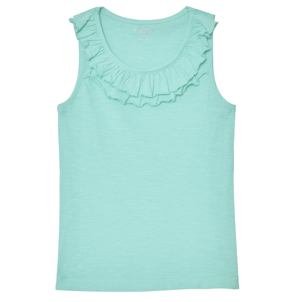 Double Ruffle Tank Top