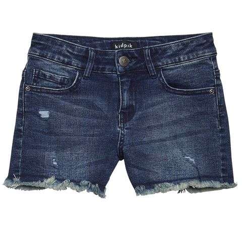 Fun Fringe Denim Shorts - Yarrow Wash