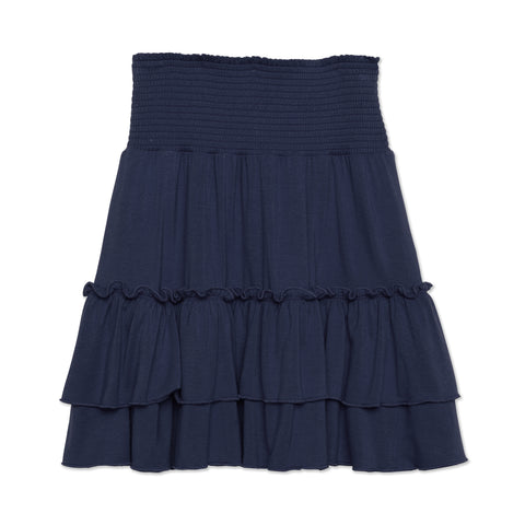 Smock Tiered Skirt - Kidpik Navy