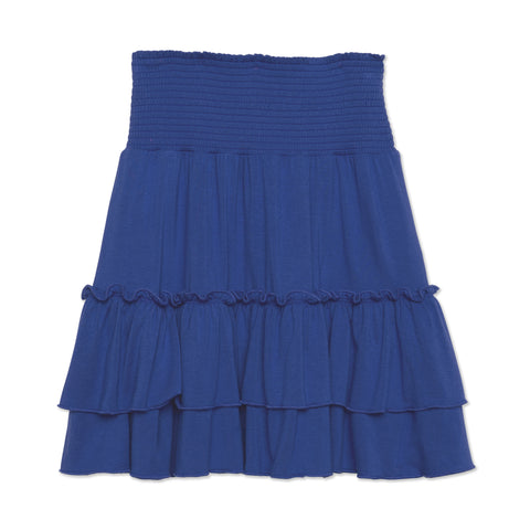 Smock Tiered Skirt - Turkish Sea