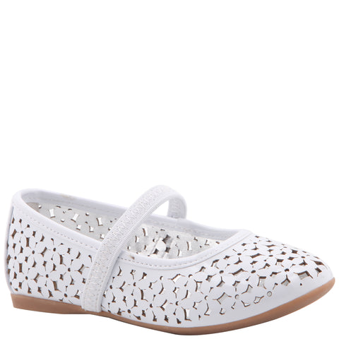 Perforated Ballet - White