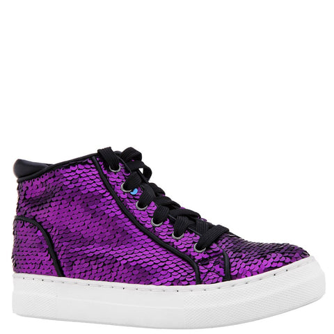 Reverse Sequin High Top Sneaker - Winter Bloom