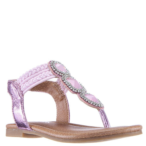 Jeweled Strappy Sandal - Ballerina