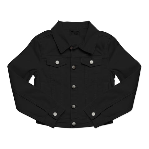 Colored Denim Jacket - Black