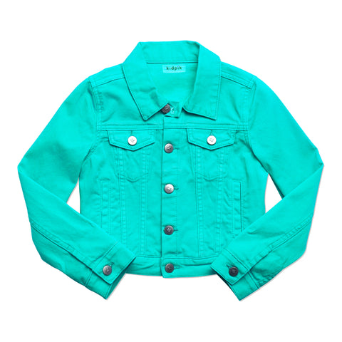 Colored Denim Jacket - Jadite