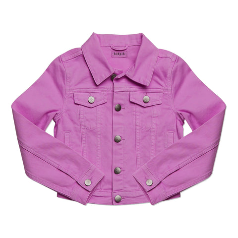 Colored Denim Jacket - Striking Purple