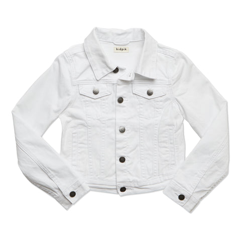 Colored Denim Jacket - White