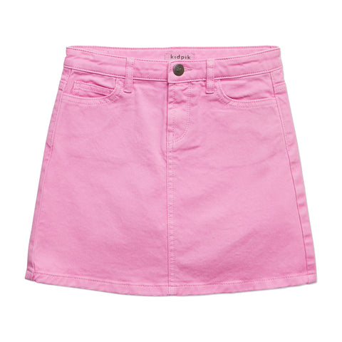 Colored Denim Skirt - Rosebloom