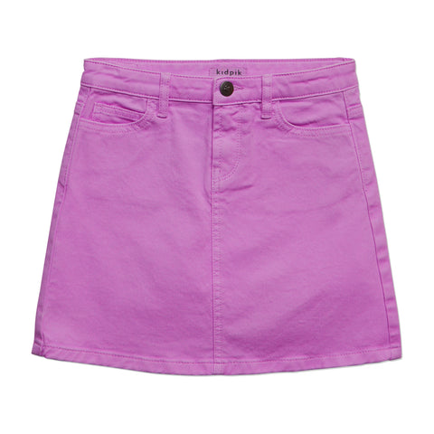 Colored Denim Skirt - Striking Purple
