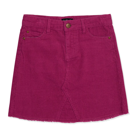 Cord 5 Pocket Skirt - Festival Fuchsia