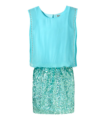 Chiffon Sequin Dress - Aquarelle