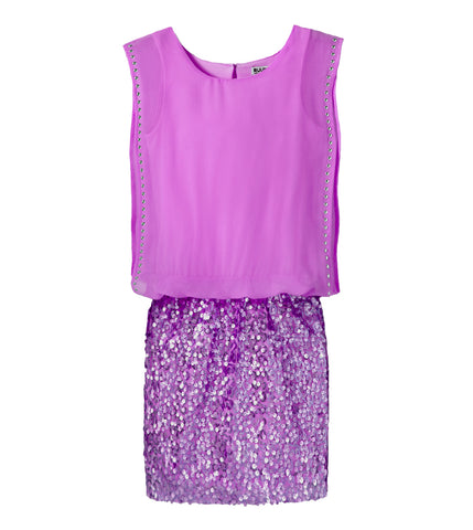 Chiffon Sequin Dress - Dewberry