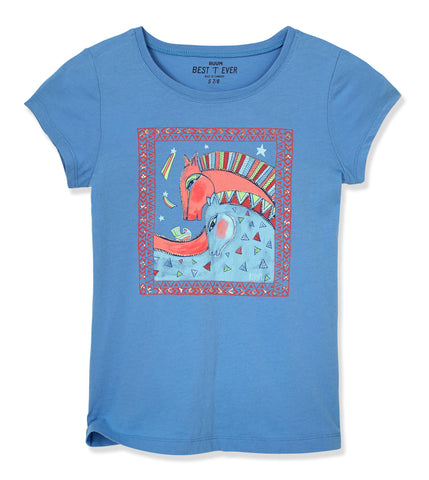 Horse Tee - Provence Blue
