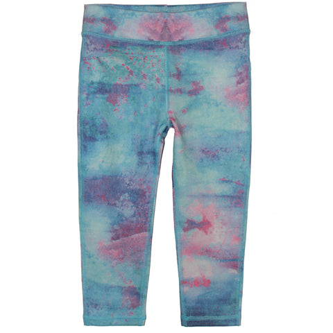 Tie Dye Crop Legging - Ruum Navy