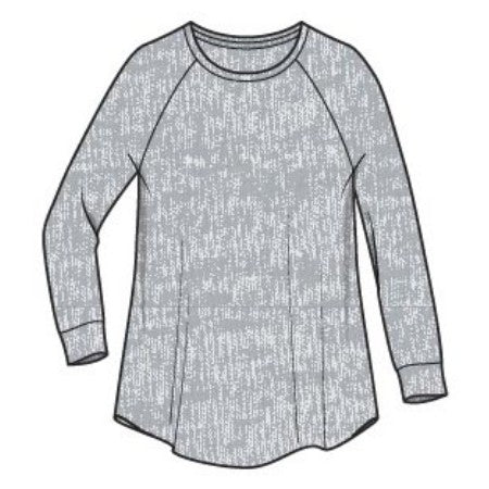 Raglan Tunic - Medium Heather Grey