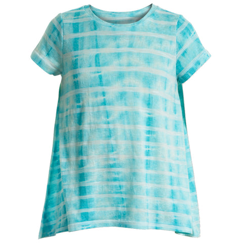 Tie Dye Stripe Swing Top - Jadite