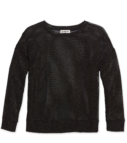 Lurex Mesh Top - Black
