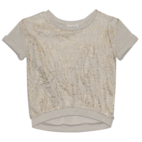 Foil Rose Top - Ruum Cream