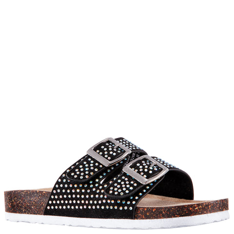 Studded Slide - Black