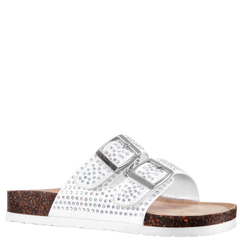 Studded Slide - White