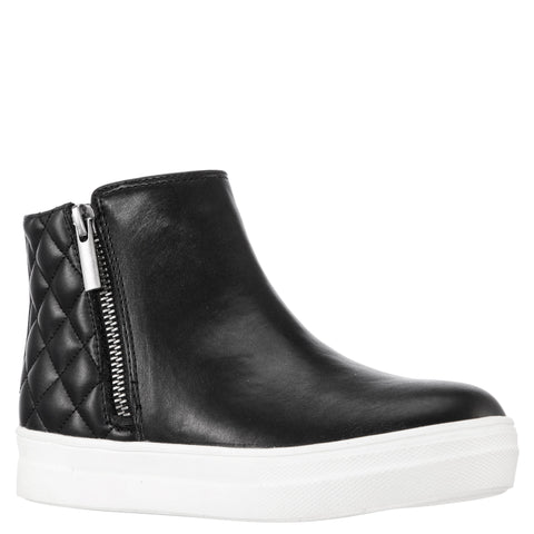 Quilted High Top Sneaker - Black