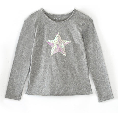 Dimensional Star Tee - Medium Heather Grey