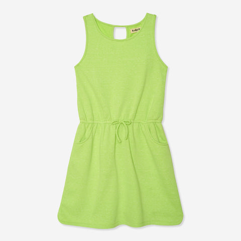Drop Waist Tank Dress - Acid Lime