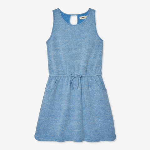 Drop Waist Tank Dress - Azure Blue