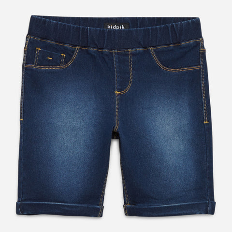 Easy Pull-On Bermuda Shorts - Nova Wash