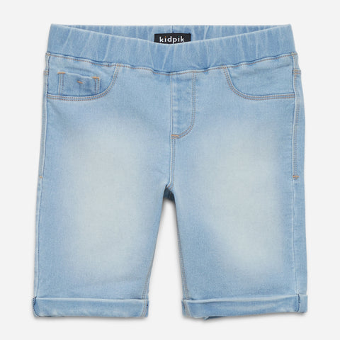 Easy Pull-On Bermuda Shorts - Starburst Wash