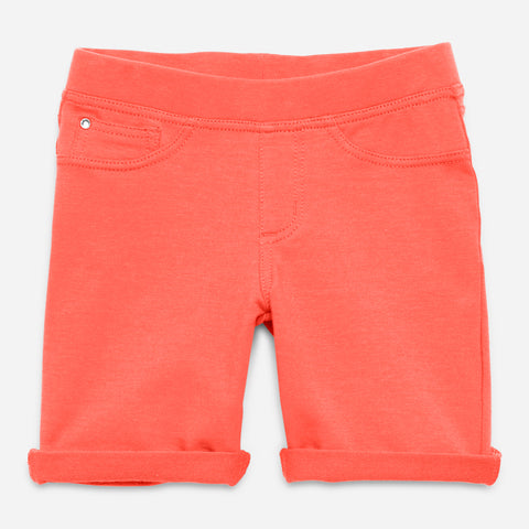 Easy Pull-On Knit Bermuda Shorts - Calypso Coral