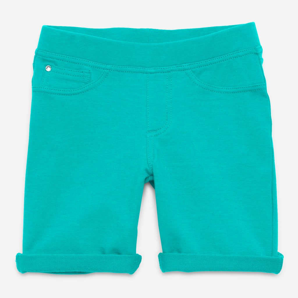 Easy Pull-On Knit Bermuda Shorts