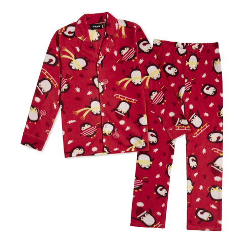 Kids Penguin Pjs - True Red