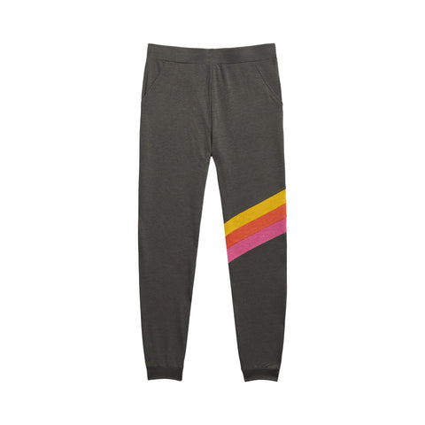 Warm Stripe Jogger - Charcoal Heather