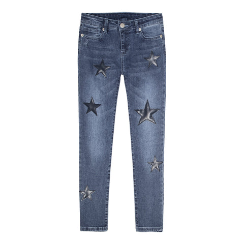 Star Patch Skinny Jean - Cinnamon Wash