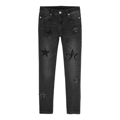 Star Patch Skinny Jean - Nutmeg Wash