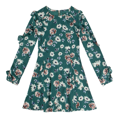 Penelope Floral Princess Seam Dress - Biscay Bay